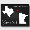 Wedding and Couples Wall Art - Because We Fell in Love Canvas - Black