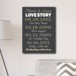 Best Days of Our Lives Canvas Print - Grey/Tan