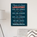 Best Days of Our Lives Canvas Print - Navy/Coral