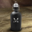 Personalized Stainless Black Matte Growler - Stamped