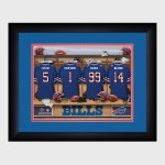 Personalized NFL Locker Room Print with Matted Frame - Buffalo Bills