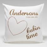 Cabin Pillow Throw-Heart