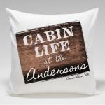 Cabin Throw Pillow-Cabin Life