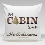 Cabin Throw Pillow-Cabin Time