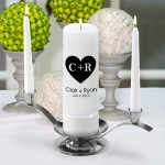 Carved Heart Premier Unity Candle Set (CP3)