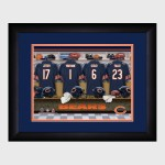 Personalized NFL Locker Room Print with Matted Frame - Chicago Bears