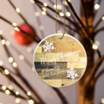 Christmas Ceramic Ornament - Multiwood
