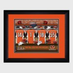Personalized NFL Locker Room Print with Matted Frame - Cincinnati Bengals