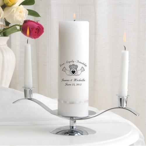 Claddagh Premier Unity Candle Set (E5)