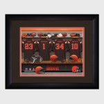 Personalized NFL Locker Room Print with Matted Frame - Cleveland Browns