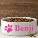 Colorful Classic Large Dog Bowl - Happy Paws