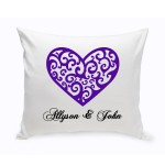 Couples Unity Hearts Throw Pillow - Vintage Heart