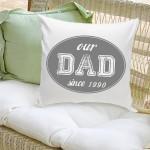 Dad Stamp Throw Pillow - Gray
