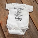 """Daddy To Be"" Baby Announcement Bodysuit - Black"