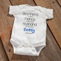 """Daddy To Be"" Baby Announcement Bodysuit - Blue"