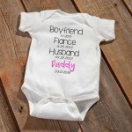 """Daddy To Be"" Baby Announcement Bodysuit - Pink"