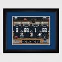 Personalized NFL Locker Room Print with Matted Frame - Dallas Cowboys