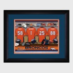 Personalized NFL Locker Room Print with Matted Frame - Denver Broncos
