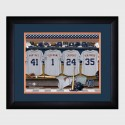 Personalized MLB Clubhouse Print with Matted Frame - Detroit Tigers