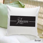 Family First Throw Pillow - Script