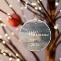 Family Name Ceramic Ornament - Barnwood