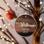 Family Name Ceramic Ornament - Merbau