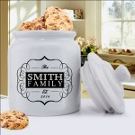 Personalized Mr. & Mrs. Wedding Ring Cookie Jar - Family Initial