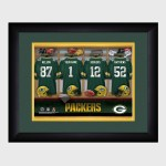 Personalized NFL Locker Room Print with Matted Frame - Green Bay Packers