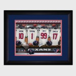 Personalized NFL Locker Room Print with Matted Frame - Houston Texans