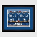 Personalized NFL Locker Room Print with Matted Frame - Indianapolis Colts