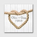 Personalized Knot Canvas Sign - White Wood Background Design