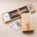 Monogrammed Cribbage Game - Circle