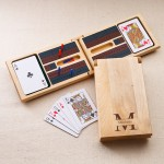 Monogrammed Cribbage Game - Stamped