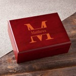 Monogrammed Humidor - Stamped