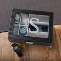 Monogrammed Men's Watch and Sunglasses Box - Modern