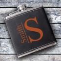 Monogrammed Suede Flask - Modern