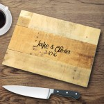 Personalized Glass Cutting Boards - Multi Wood Cutting Board