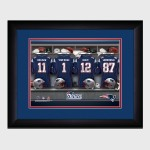 Personalized NFL Locker Room Print with Matted Frame - New England Patriots