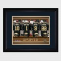 Personalized NFL Locker Room Print with Matted Frame - New Orleans Saints