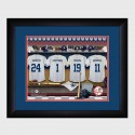 Personalized MLB Clubhouse Print with Matted Frame - New York Yankees