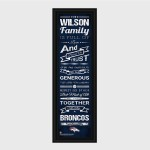 NFL Family Cheer Print & Frame - Available in All 32 Teams