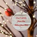 Our Family Ceramic Ornament - Birch
