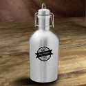 Personalized Stainless Steel Growler - Bottle Top