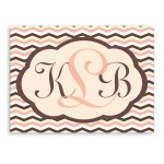 Personalized Baby Chevron Canvas Sign - Pink Brown