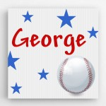 Personalized Baseball Kids Canvas Sign