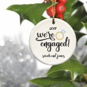 Personalized Couples Ceramic Christmas Ornaments - Engaged