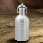 Personalized Double Wall Insulated Stainless Steel Beer Growler - Circle