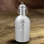 Personalized Double Wall Insulated Stainless Steel Beer Growler - Stamped