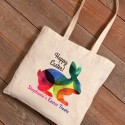 Personalized Easter Canvas Bags - Rainbow