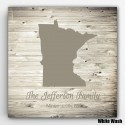 Personalized Family State Canvas - Plank